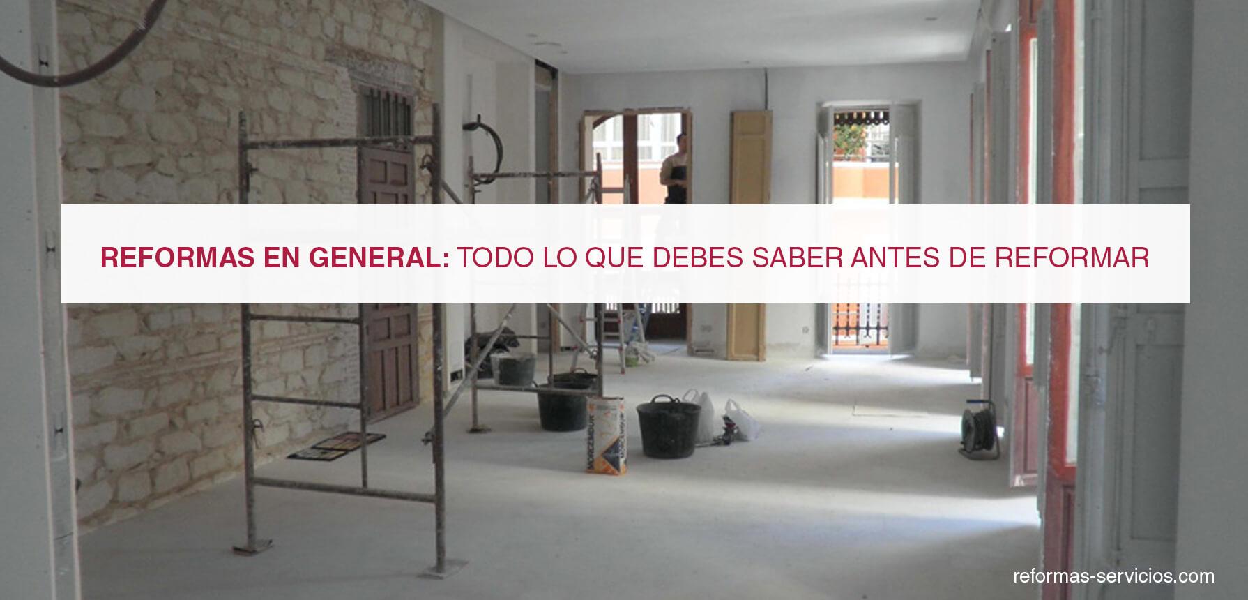 Reformas en general - Cuanto puede costar reformar un piso entero ...