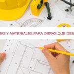 15 Herramientas y materiales para obras imprescindibles