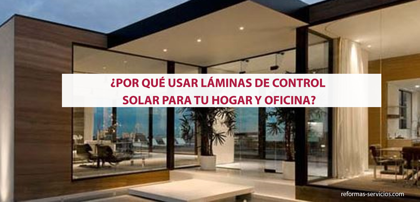 lámina control solar